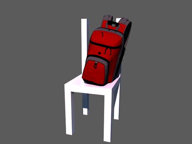 'School Backpack (VRay)' by Jon - 3D Model