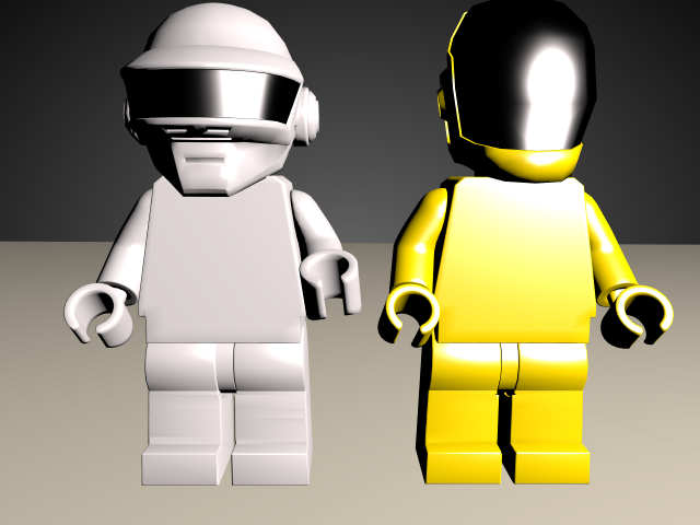 'Daft Punk Lego Minifig (VRay)' by andrewxxtheone - 3D Model