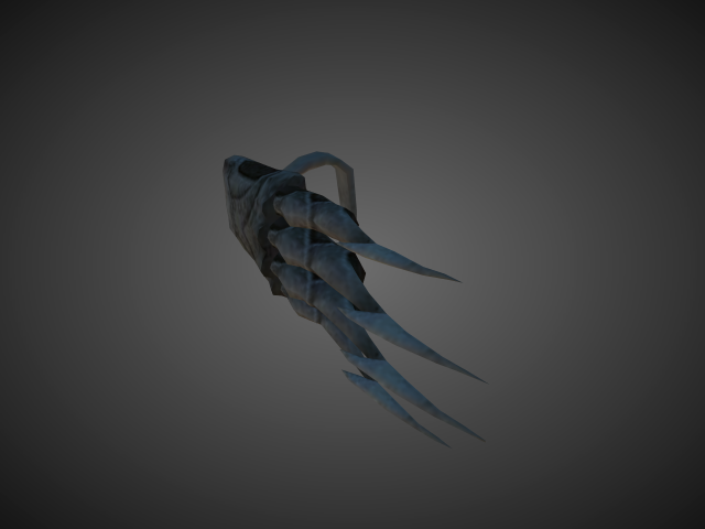 'Fist - Ancient Fist Claws 01' by bevisbear - 3D Model