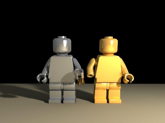 'Daft Punk Lego Minifig (VRay)' by Vulkanus12 - 3D Model