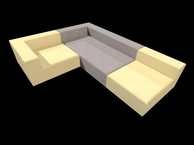 'atelier Pfister Riom Sofa' by juba - 3D Model
