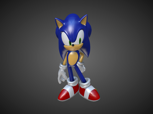 'Sonic the Hedgehog' by Alstar - 3D Model