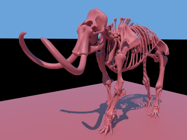 'Woolly Mammoth Skeleton' by appu065 - 3D Model