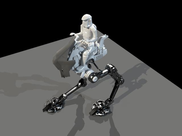 'Star Wars - Storm Trooper on Walker' by emiliopalafox - 3D Model