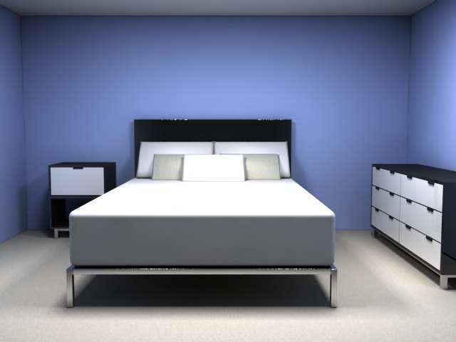 'Blue Bedroom (VRay)' by Vibahardware - 3D Model