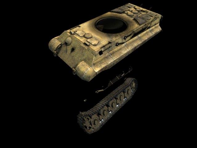 'German Panzer WW2 AUSF-B' by amavrommatis - 3D Model