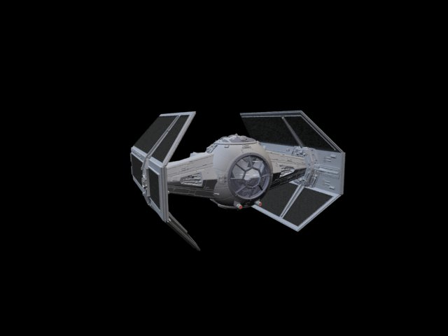 'Star Wars Vader TIE Fighter' by xmax010 - 3D Model