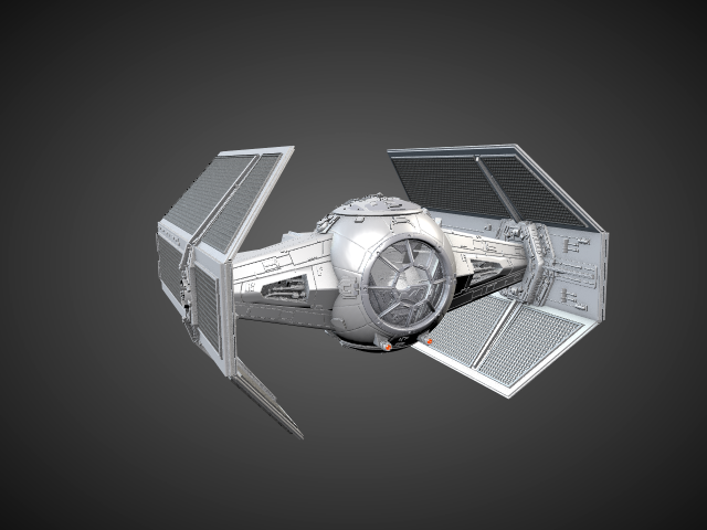 'Star Wars Vader TIE Fighter' by FalloutStoryteller13 - 3D Model