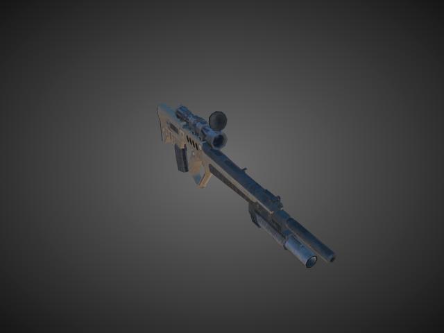 'Assault Rifles - Tar21 Desert 02' by bevisbear - 3D Model