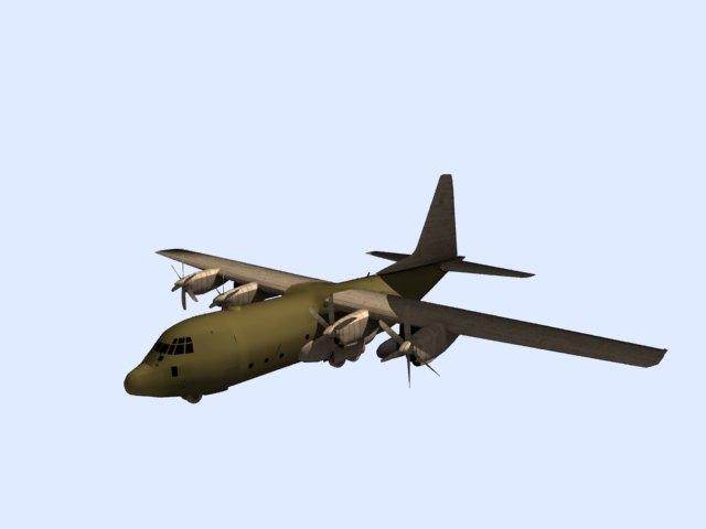 'US C 130 Hercules Airplane' by tjhthjtdedtjh - 3D Model