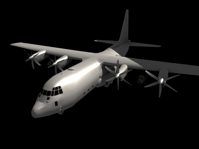 'US C 130 Hercules Airplane' by FalloutStoryteller13 - 3D Model